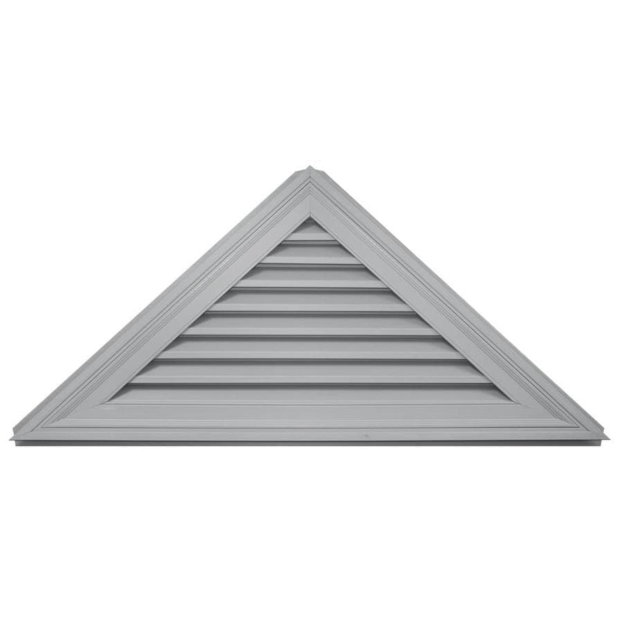 Builders Edge 63-in x 25-in Paintable Triangle Vinyl Gable Vent