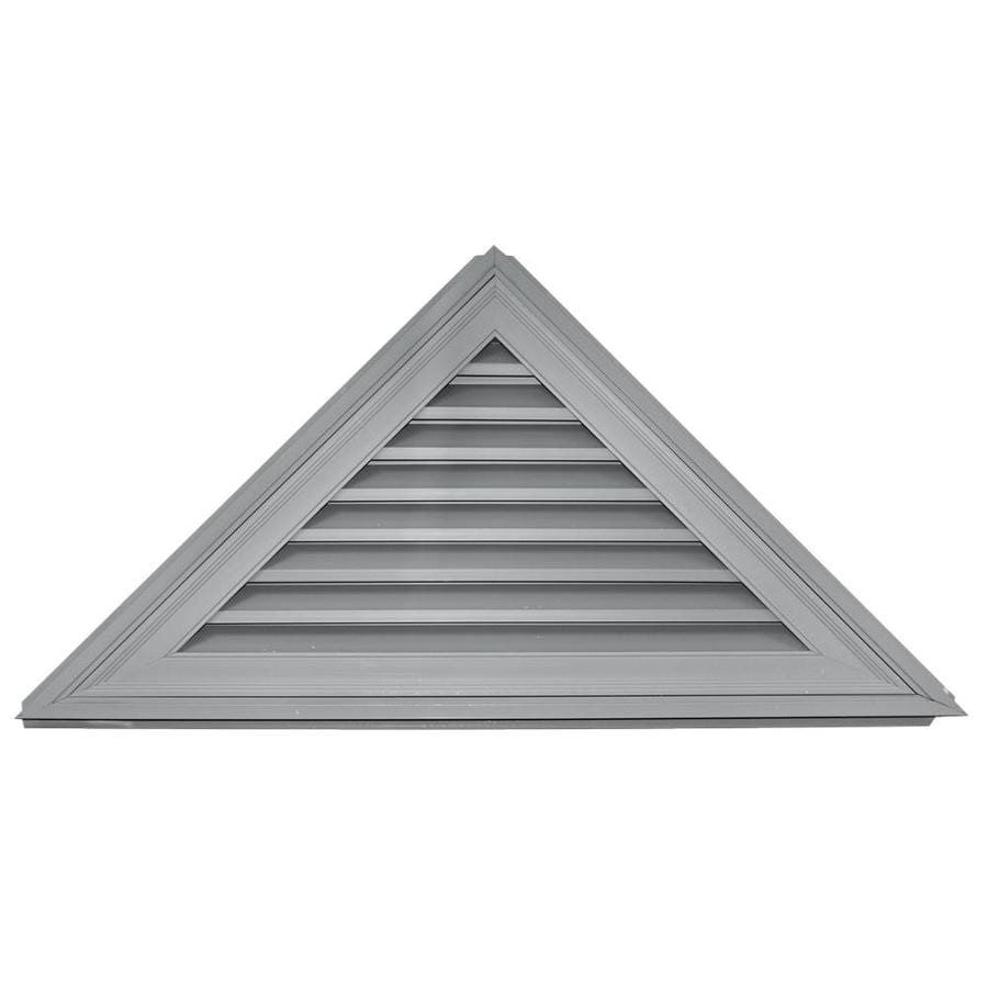 Shop builders edge 52 in x 26 in paintable triangle vinyl for Gable decorations home depot