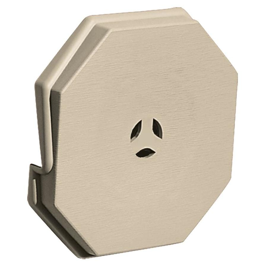 Builders Edge 6.6875-in x 6.6875-in Sandalwood Vinyl Universal Mounting Block