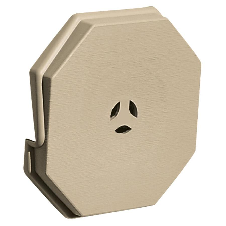 Builders Edge 6.6875-in x 6.6875-in Light Almond Vinyl Universal Mounting Block