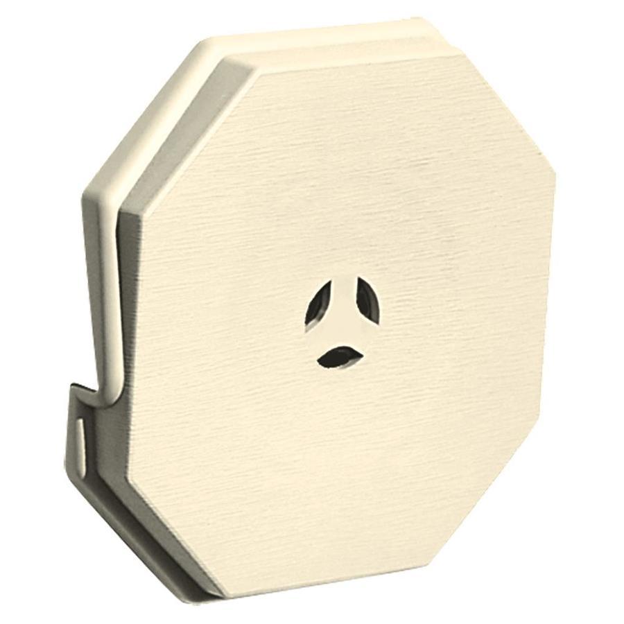 Builders Edge 6.6875-in x 6.6875-in Heritage Cream Vinyl Universal Mounting Block