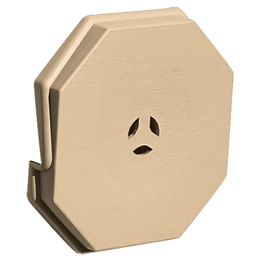 Builders Edge 6.6875-in x 6.6875-in Sandstone Maple Vinyl Universal Mounting Block