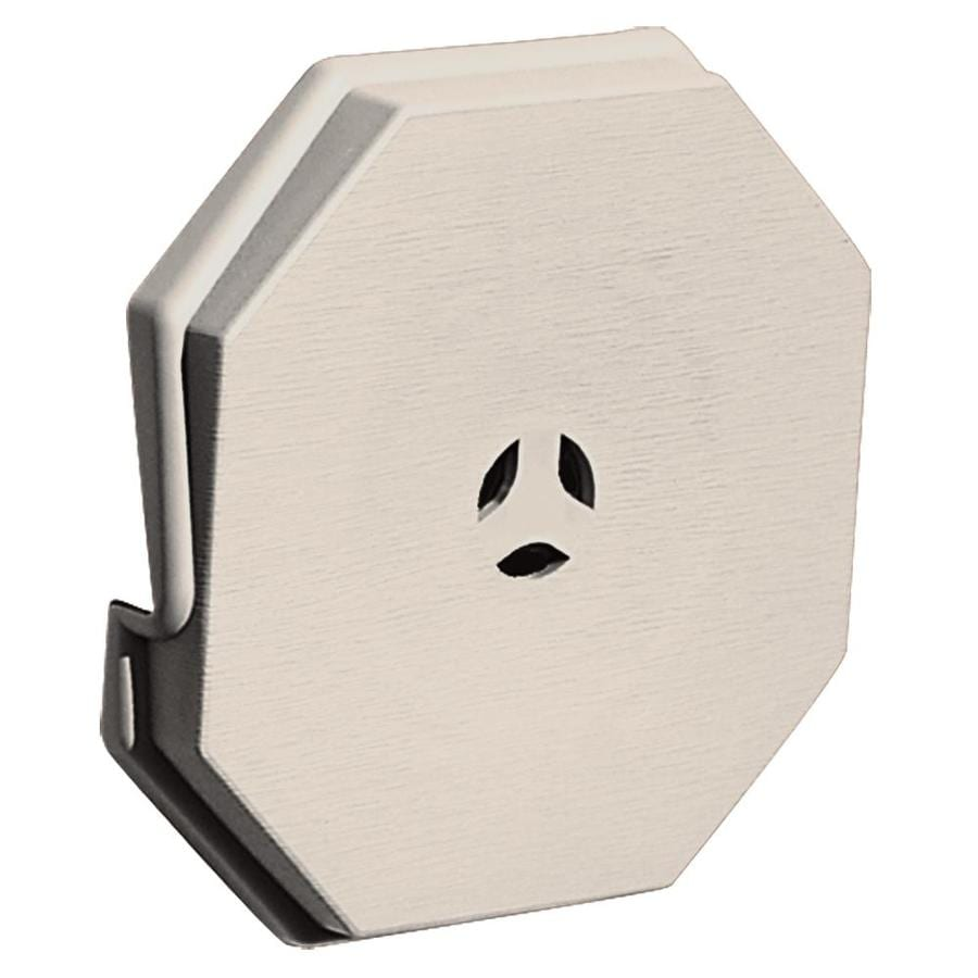 Builders Edge 6.6875-in x 6.6875-in Almond Vinyl Universal Mounting Block