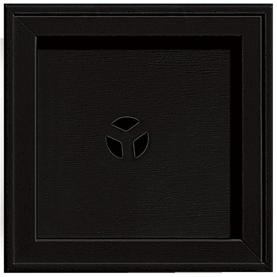 Builders Edge 7.75-in x 7.75-in Black Vinyl Universal Mounting Block