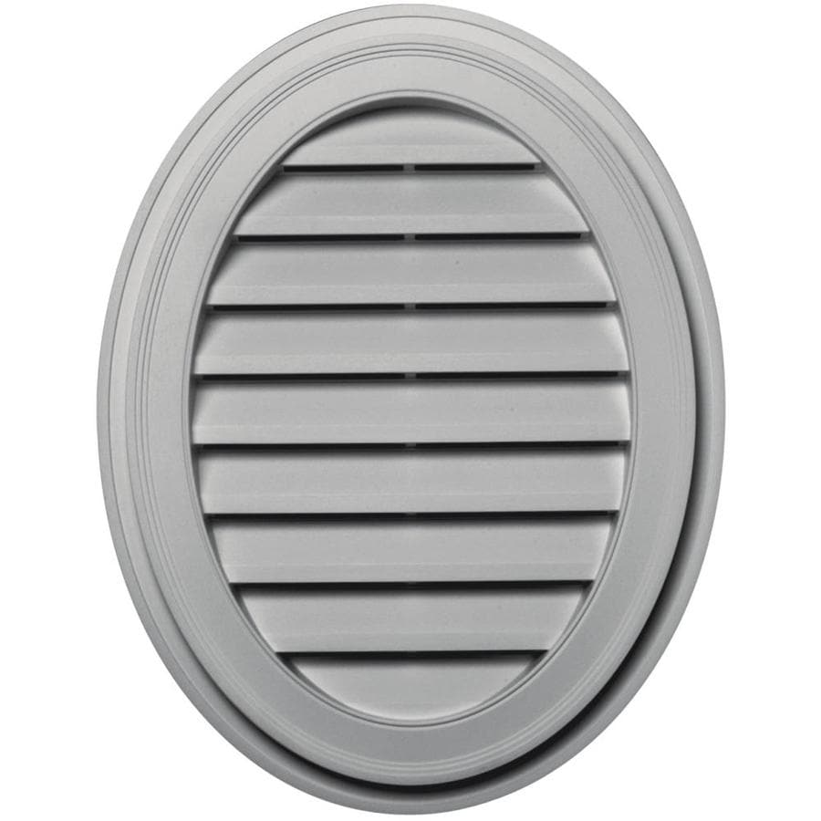 Builders Edge 8-in x 8-in Paintable Oval Vinyl Gable Vent