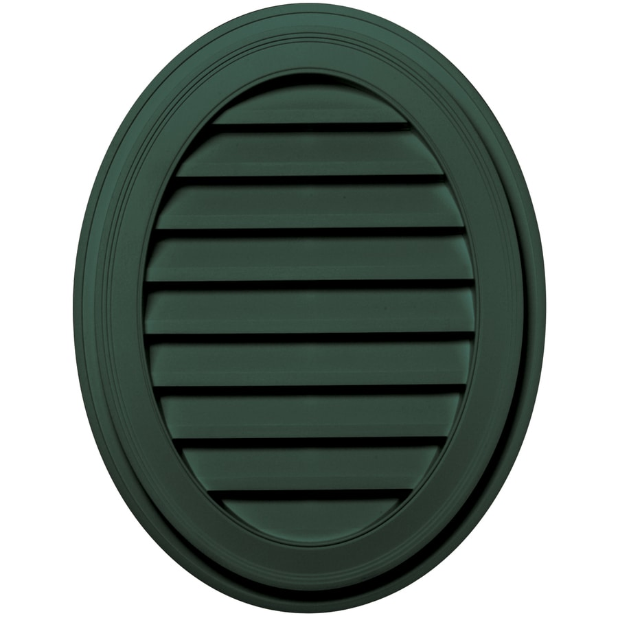 Builders Edge 21-in x 27-in Forest Green Oval Vinyl Gable Vent