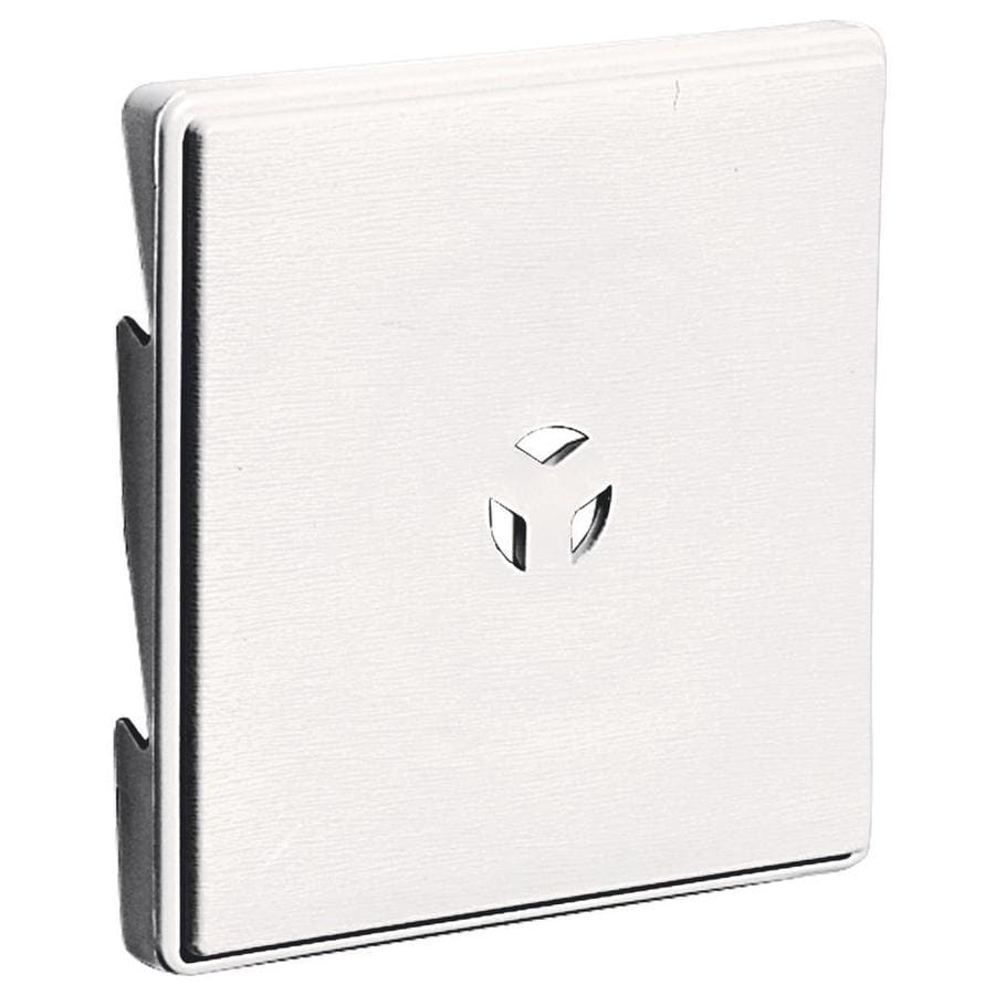 Builders Edge 6.625-in x 6.625-in Bright White Vinyl Universal Mounting Block
