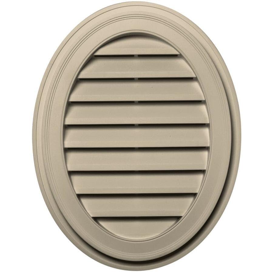 Builders Edge 8-in x 8-in Almond Oval Vinyl Gable Vent