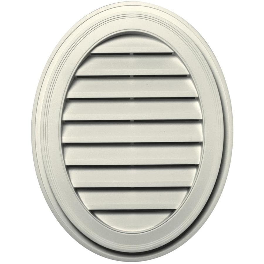 Builders Edge 21-in x 27-in Parchment Oval Vinyl Gable Vent