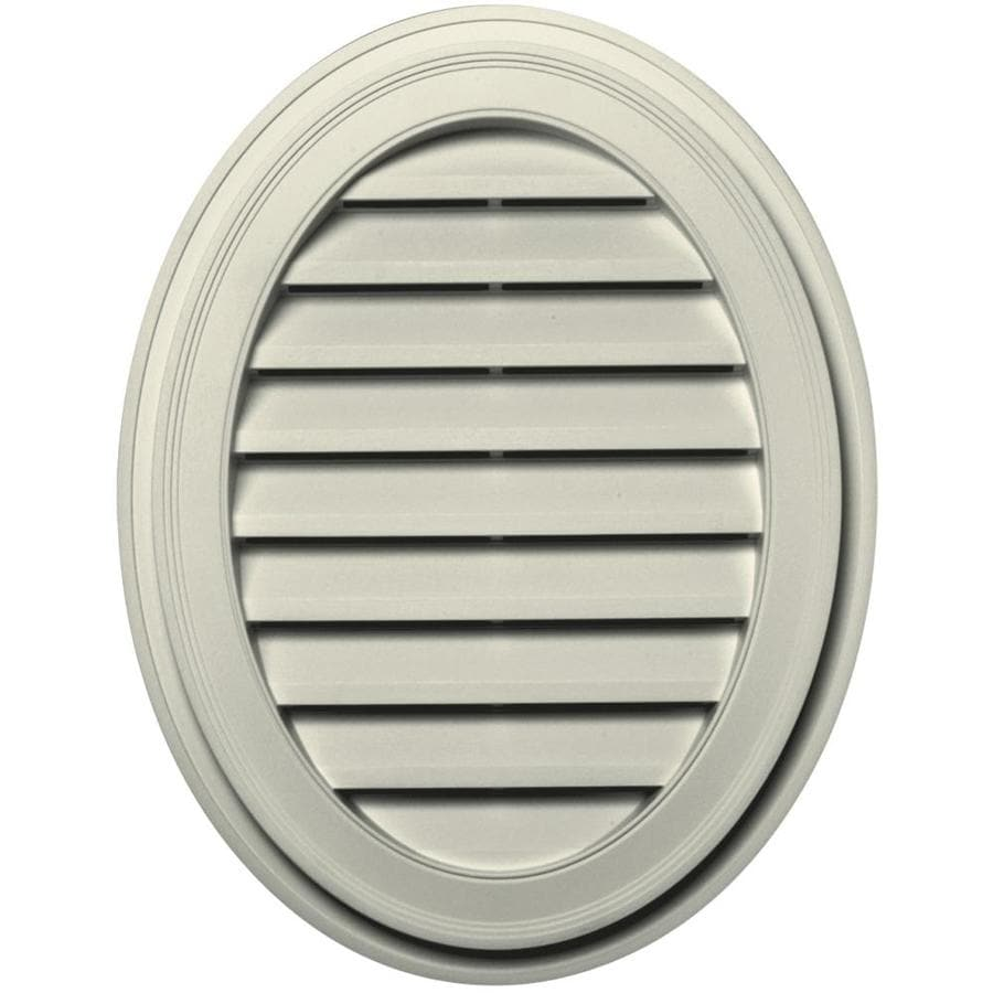 Builders Edge 8-in x 8-in Linen Oval Vinyl Gable Vent
