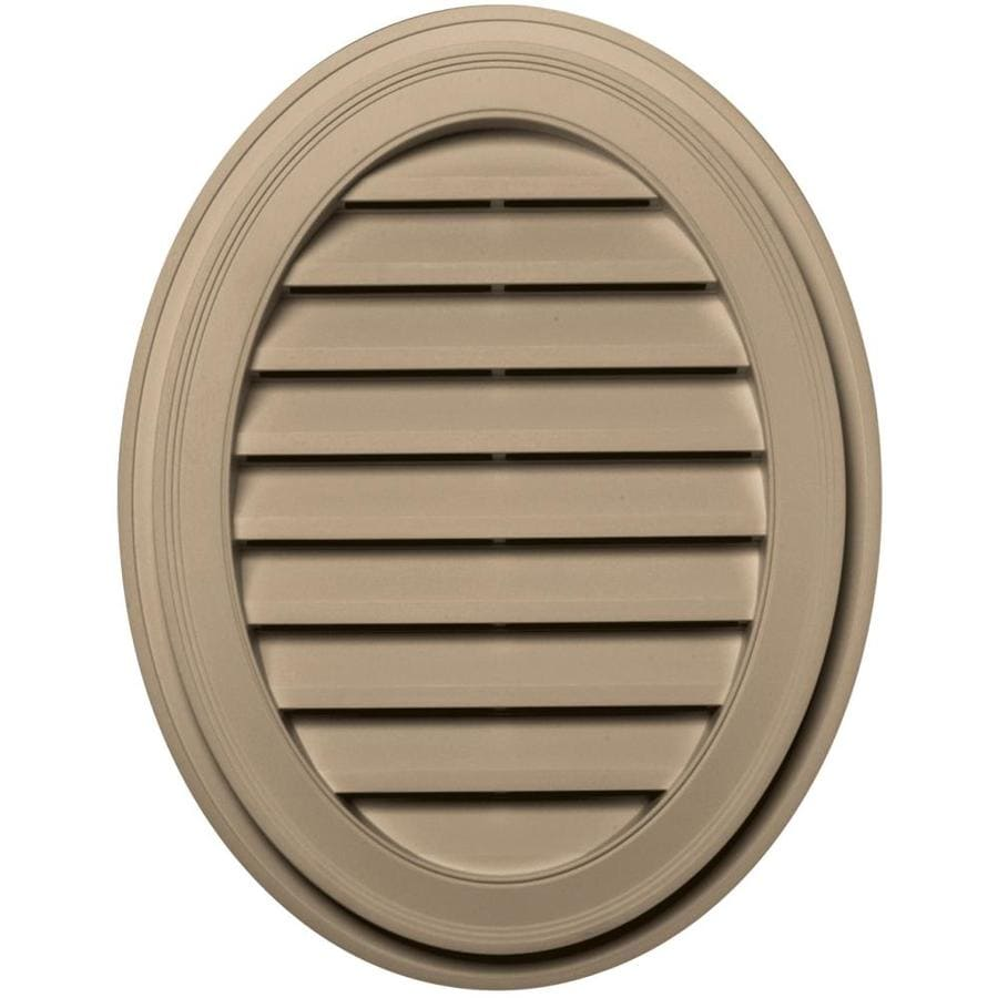 Builders Edge 21-in x 27-in Tan Oval Vinyl Gable Vent