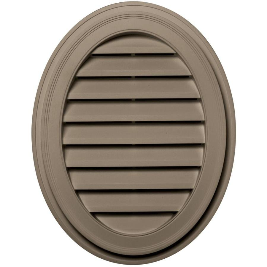 Builders Edge 21-in x 27-in Clay Oval Vinyl Gable Vent