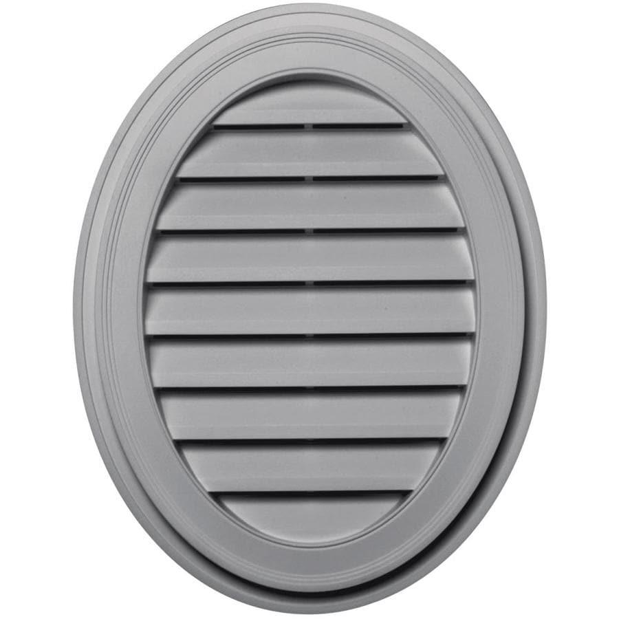 Builders Edge 8-in x 8-in Gray Oval Vinyl Gable Vent