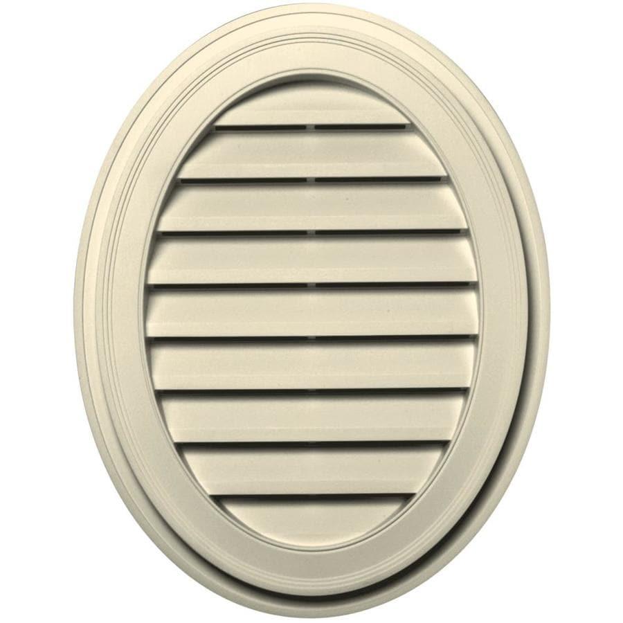 Builders Edge 21-in x 27-in Heritage Cream Oval Vinyl Gable Vent