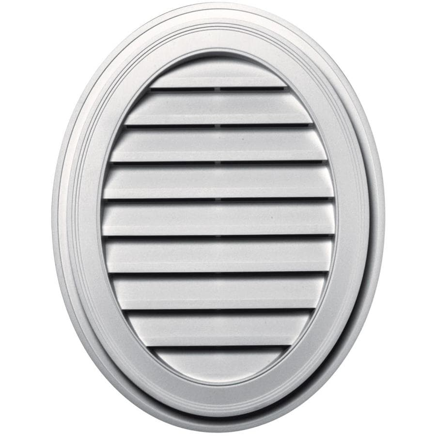 Builders Edge 21-in x 27-in Bright White Oval Vinyl Gable Vent