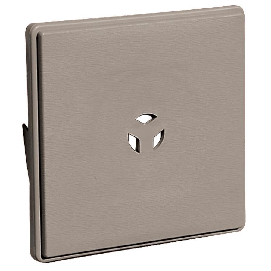 Builders Edge 6.625-in x 6.625-in Clay Vinyl Universal Mounting Block