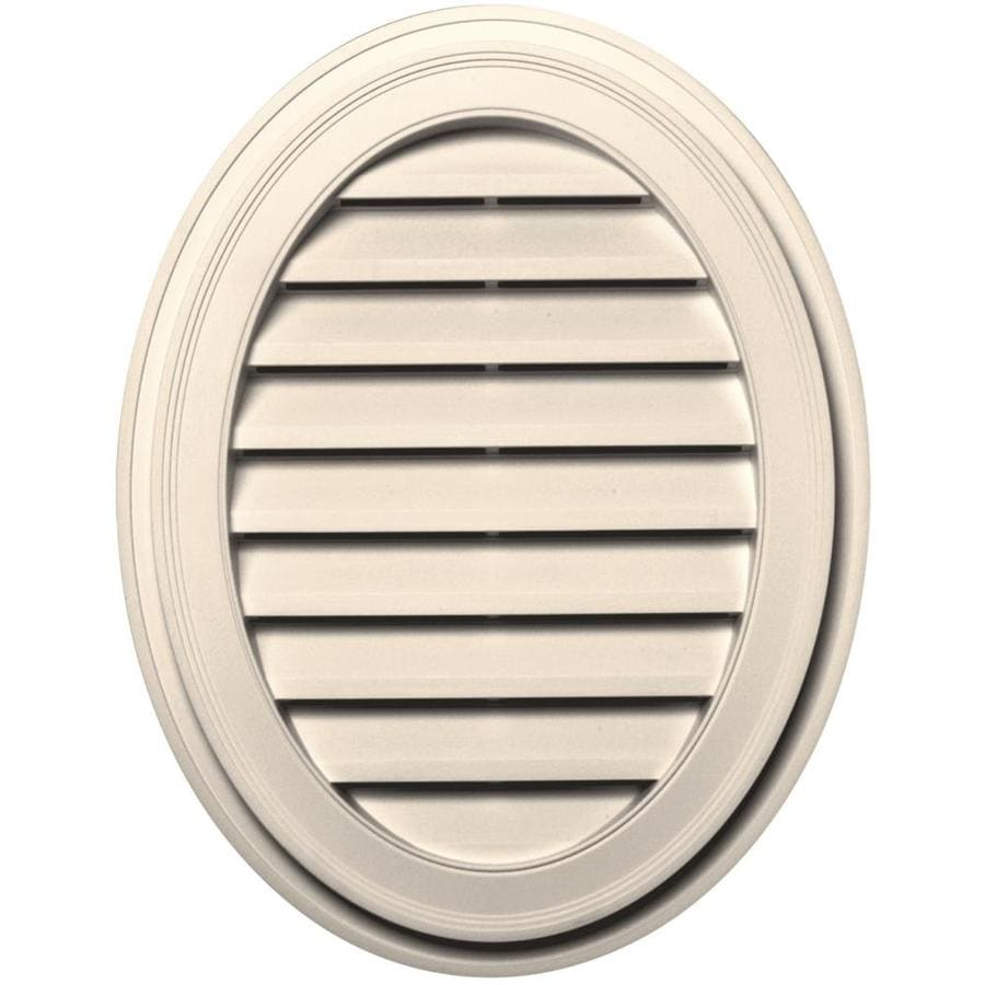 Builders Edge 21-in x 27-in Sandstone Beige Oval Vinyl Gable Vent
