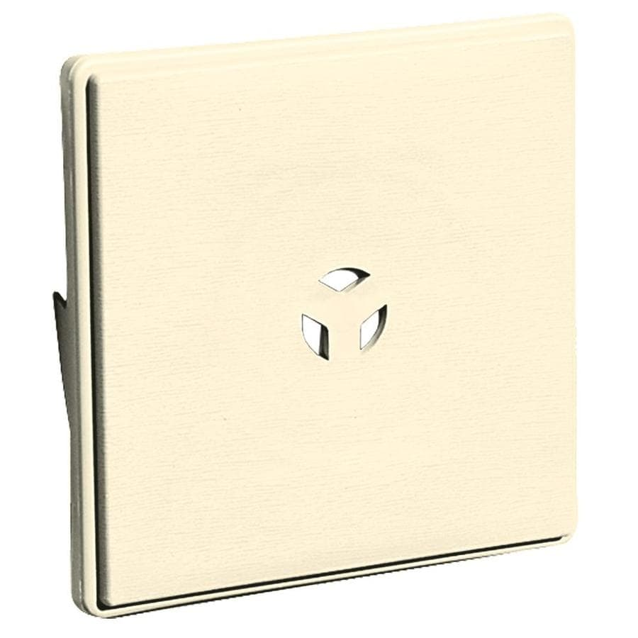 Builders Edge 6.625-in x 6.625-in Heritage Cream Vinyl Universal Mounting Block