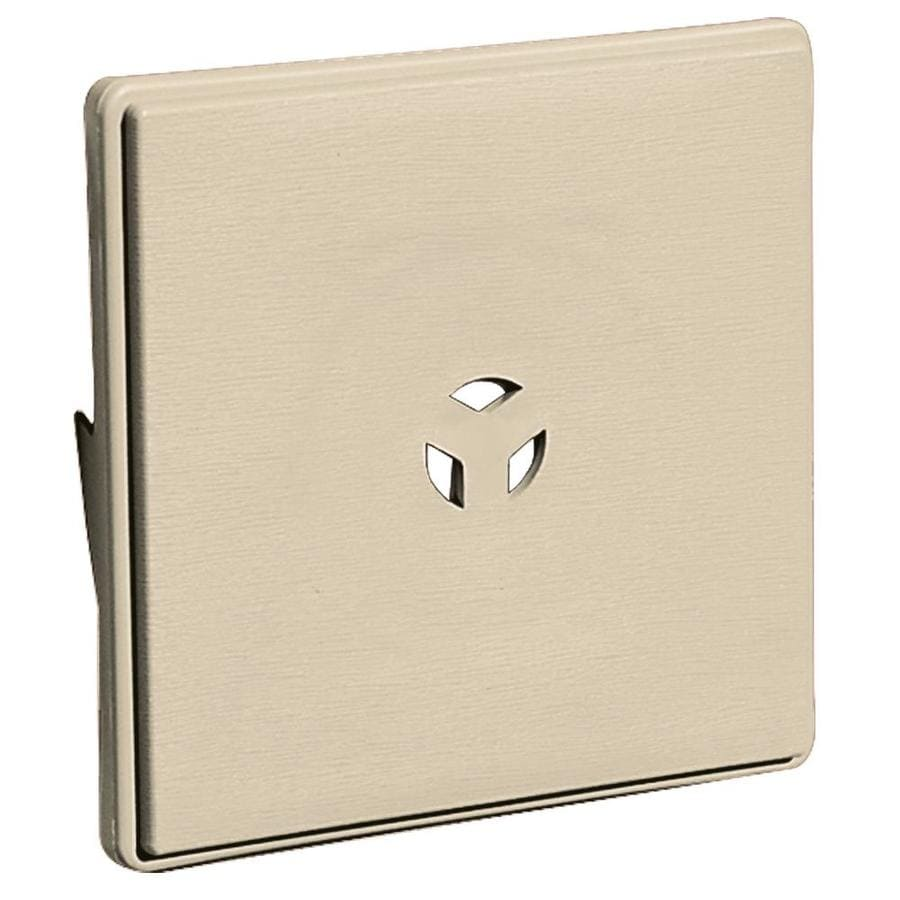 Builders Edge 6.625-in x 6.625-in Almond Vinyl Universal Mounting Block
