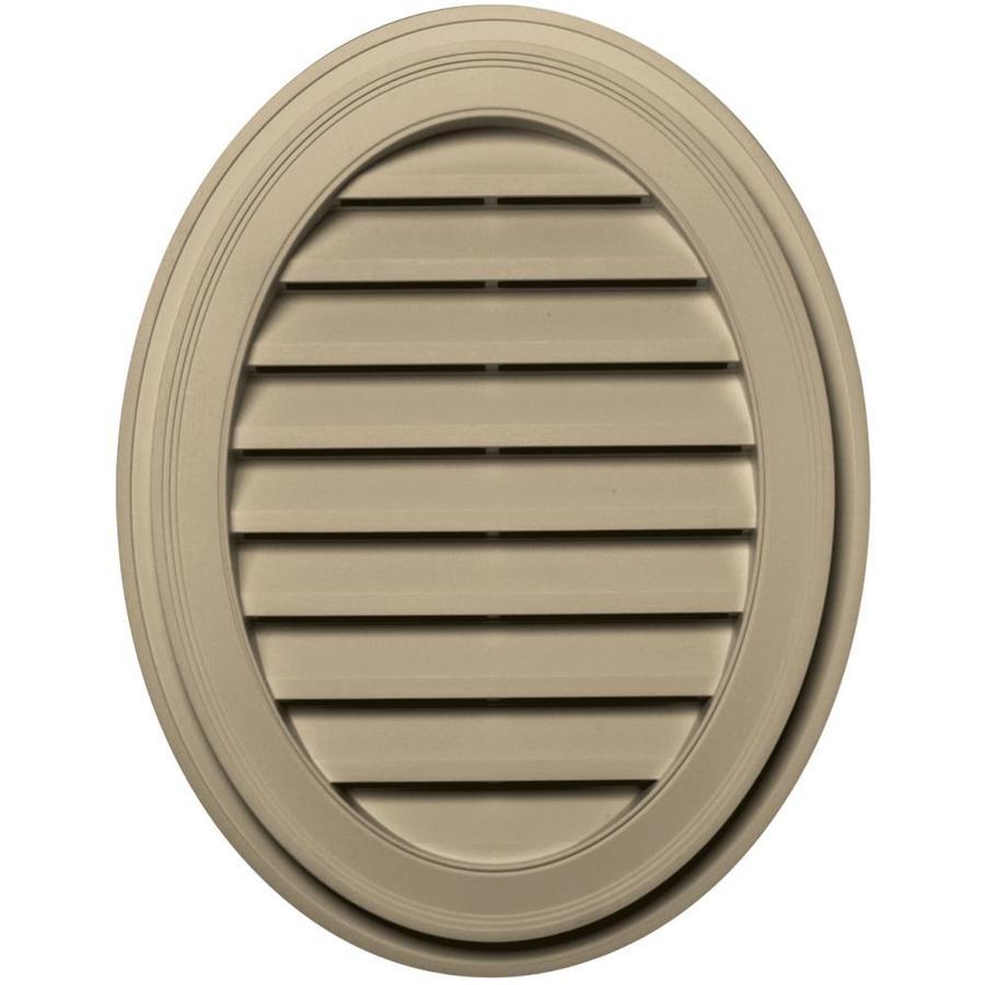 Builders Edge 21-in x 27-in Light Almond Oval Vinyl Gable Vent