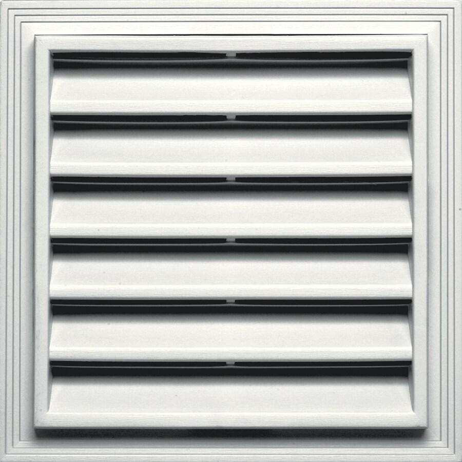 Builders Edge 14.25-in x 14.25-in White Square Vinyl Gable Vent