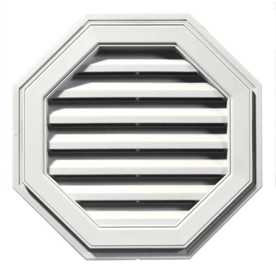 Builders Edge 22-in x 22-in White Octagon Vinyl Gable Vent