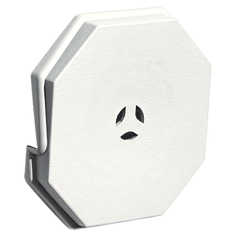 Builders Edge 6.6875-in x 6.6875-in White Vinyl Universal Mounting Block