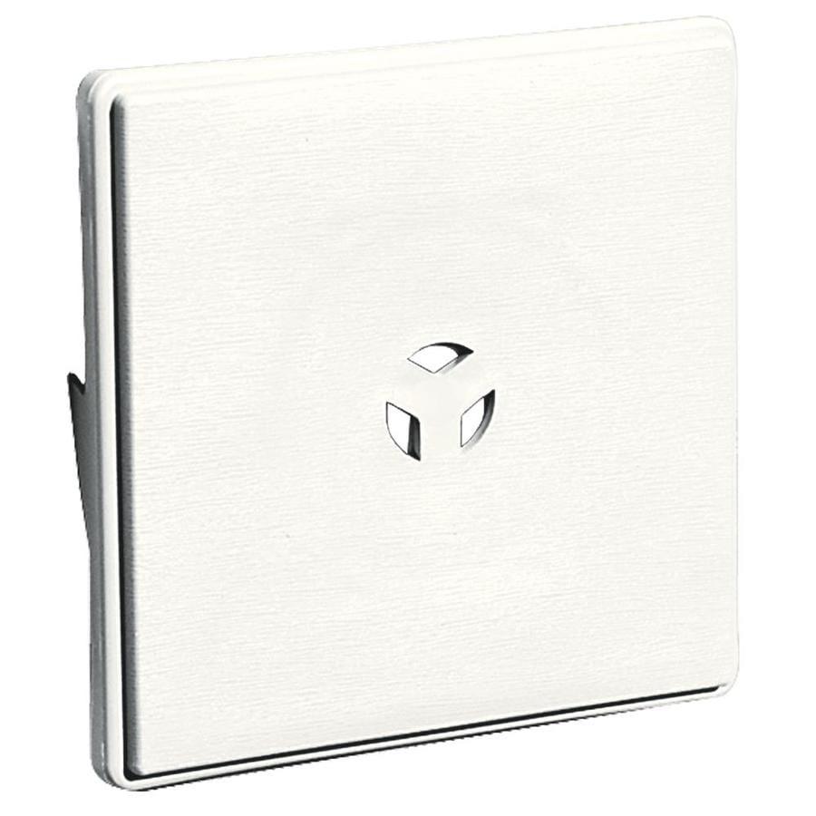 Shop Builders Edge 6.625-in x 6.625-in White Vinyl ...