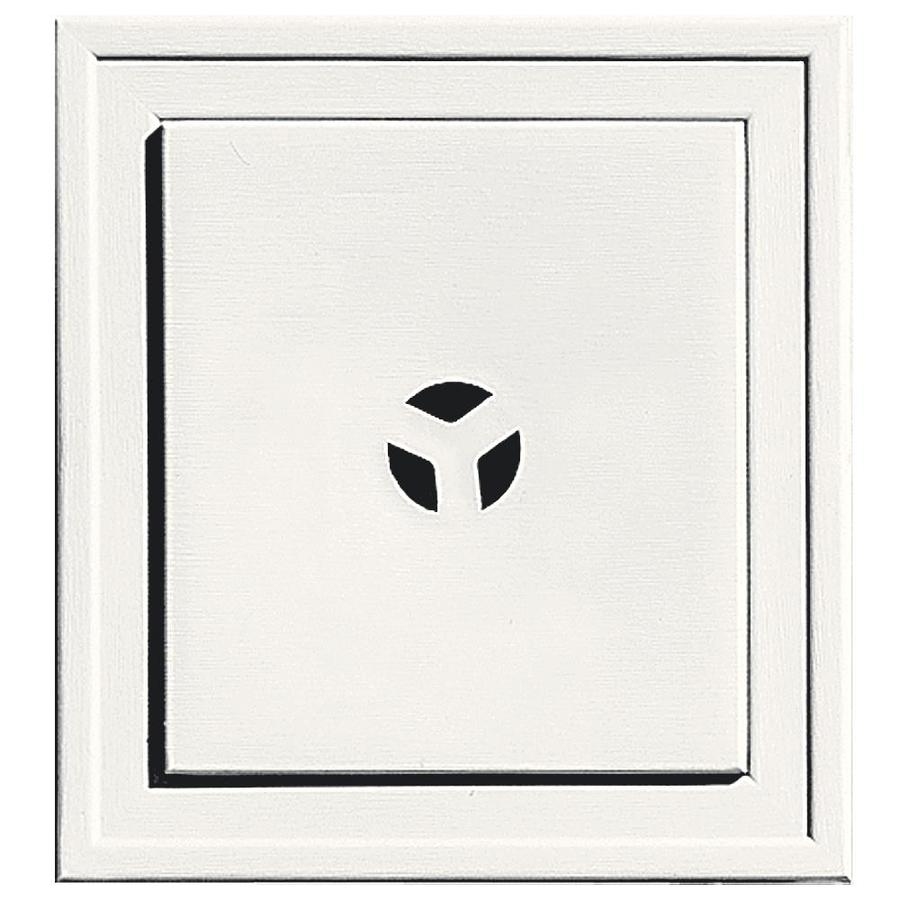 Builders Edge 7.3125-in x 7.3125-in White Vinyl Universal Mounting Block