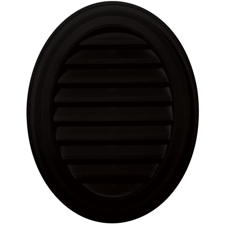 Builders Edge 8-in x 8-in Black Oval Vinyl Gable Vent
