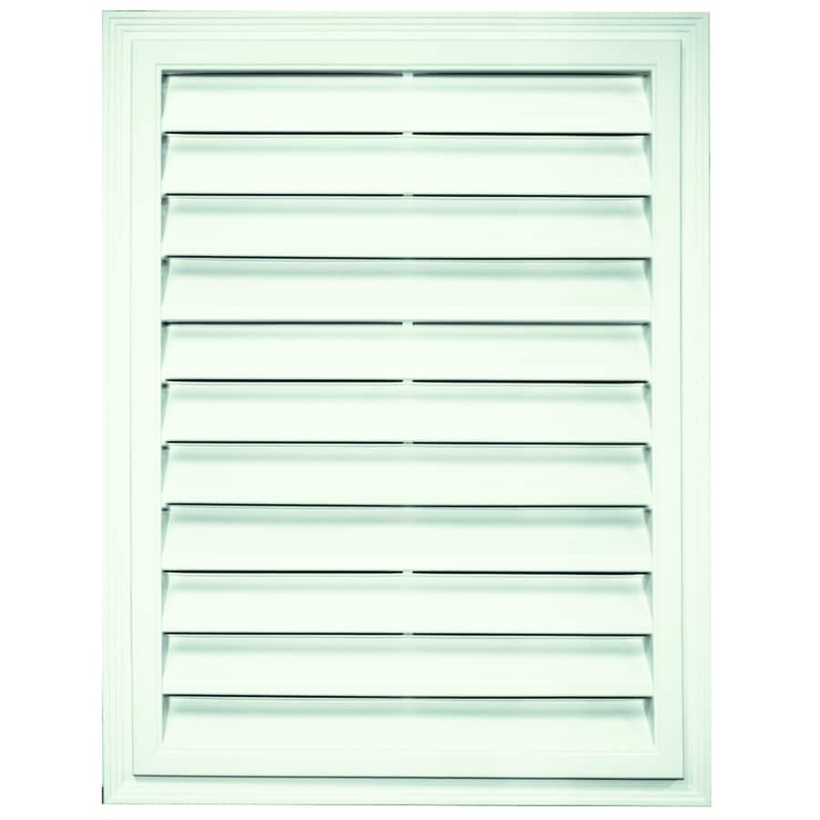 Builders Edge 26-in x 20.25-in White Rectangle Vinyl Gable Vent