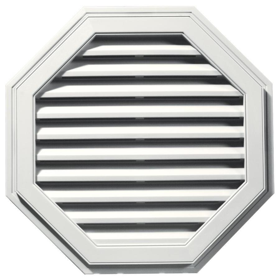 Builders Edge 32-in x 32-in White Octagon Vinyl Gable Vent