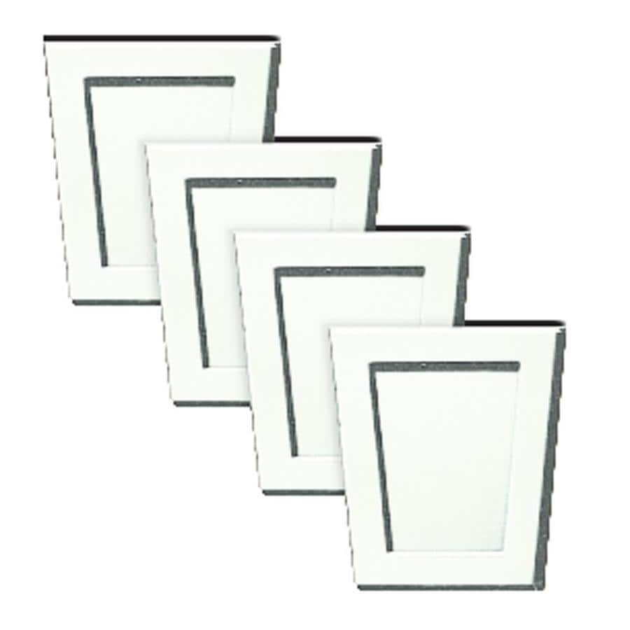 Builders Edge 4-Pack 4-in x 4.5000-in White Polypropylene Gable Vent Keystones