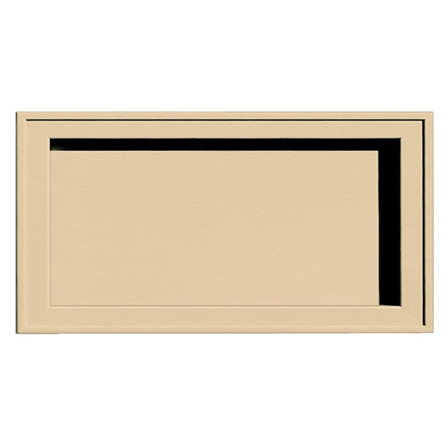 Builders Edge 7.5-in x 14.25-in Dark Almond Vinyl Universal Mounting Block