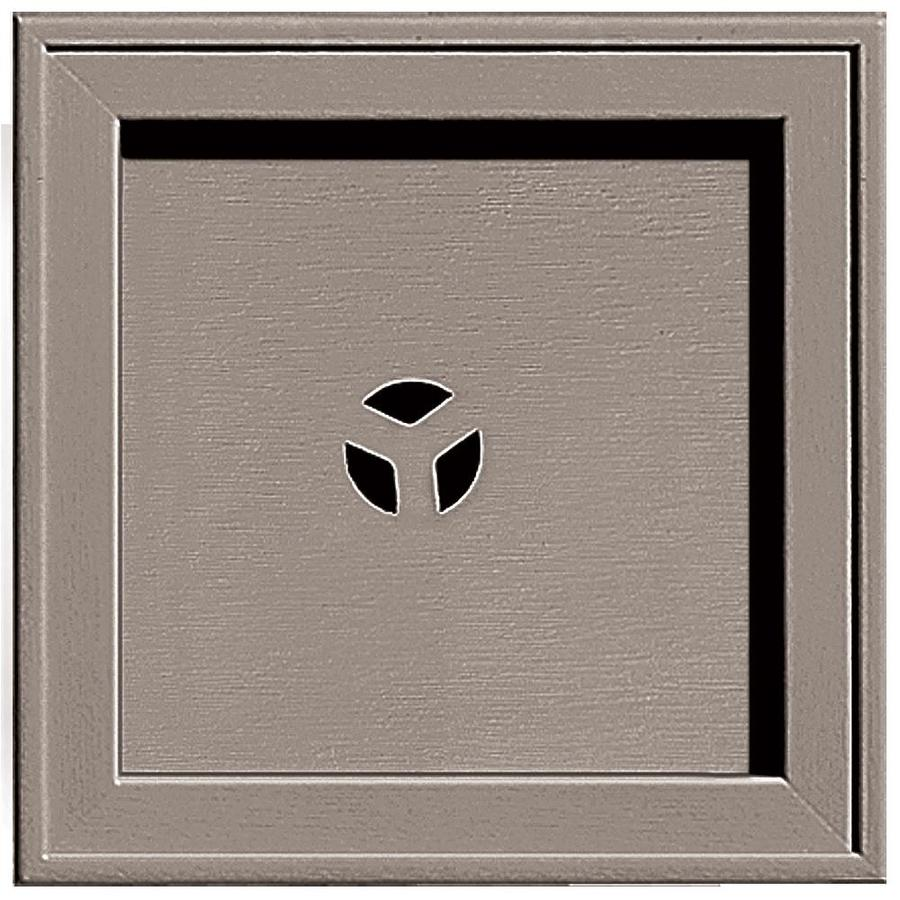 Builders Edge 7.75-in x 7.75-in Clay Vinyl Universal Mounting Block