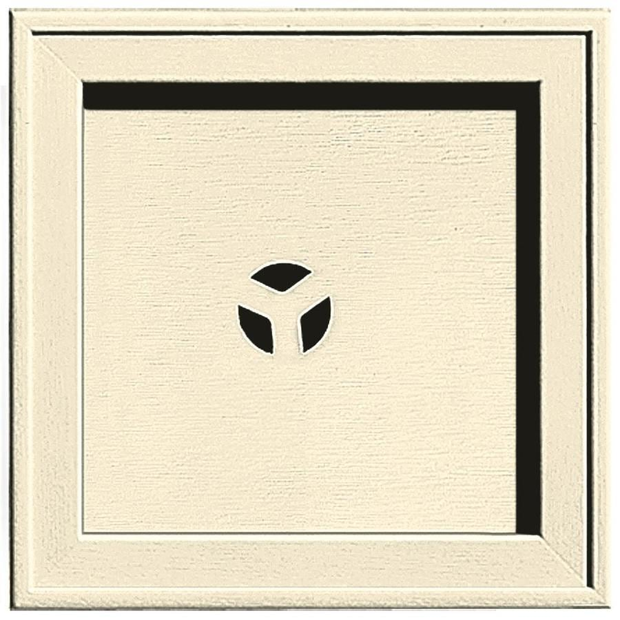 Builders Edge 7.75-in x 7.75-in Heritage Cream Vinyl Universal Mounting Block
