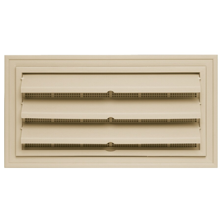 """Builders Edge 9.375"""" x 18"""" Almond Vinyl Foundation Vent without Ring"""