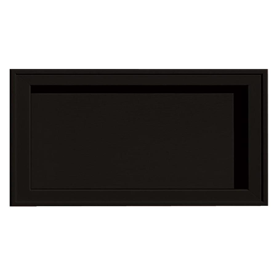 Builders Edge 7.5-in x 14.25-in Black Vinyl Universal Mounting Block