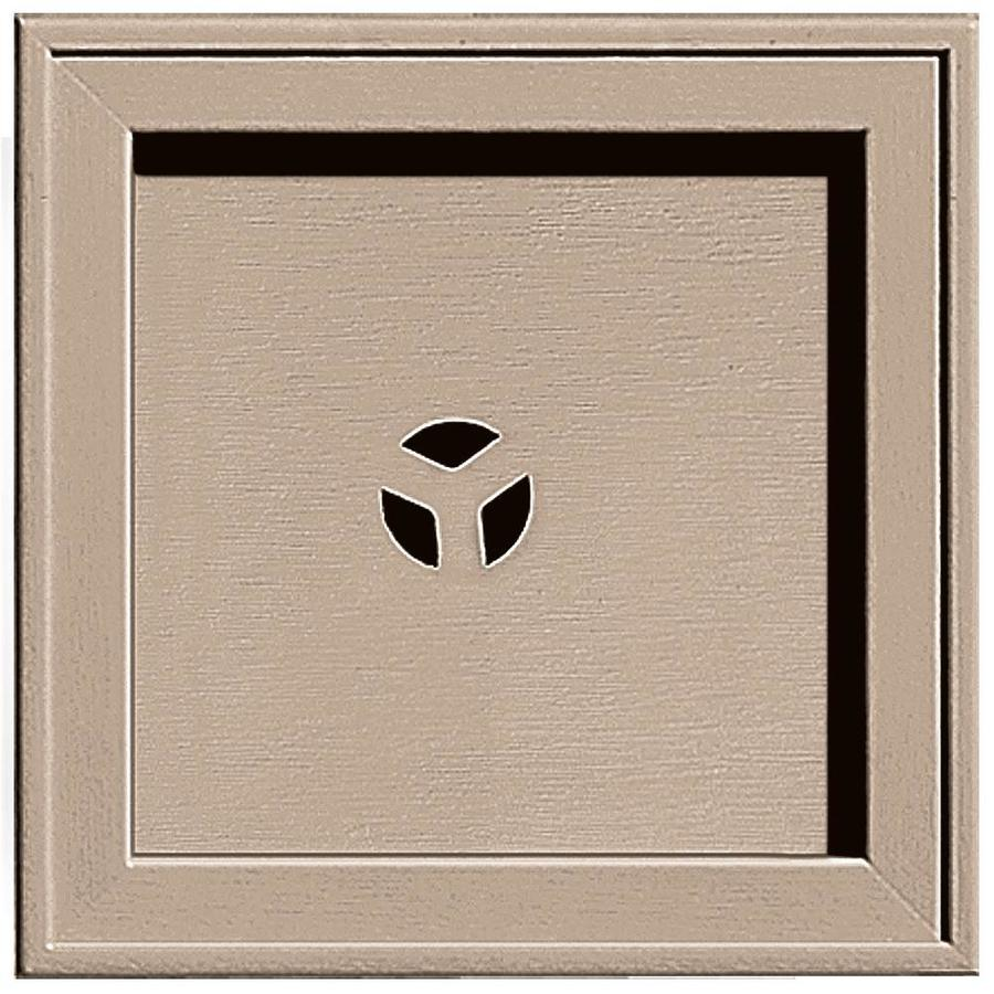 Builders Edge 7.75-in x 7.75-in Wicker Vinyl Universal Mounting Block