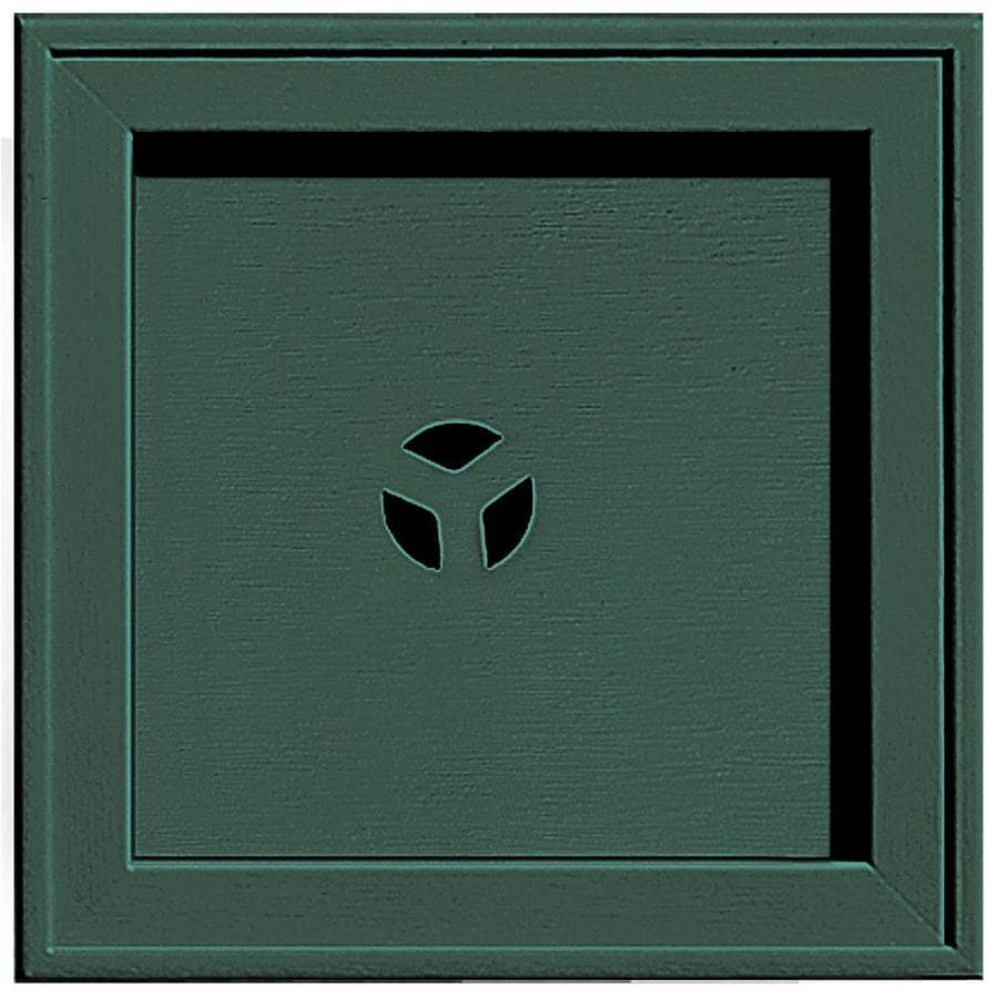 Builders Edge 7.75-in x 7.75-in Forest Green Vinyl Universal Mounting Block