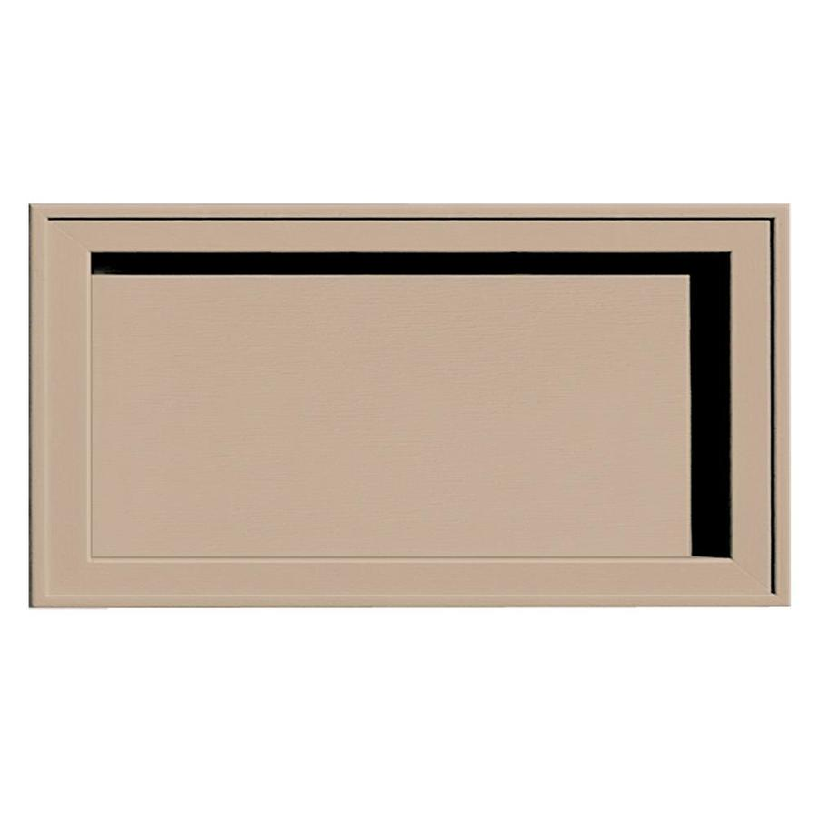 Builders Edge 7.5-in x 14.25-in Wicker Vinyl Universal Mounting Block