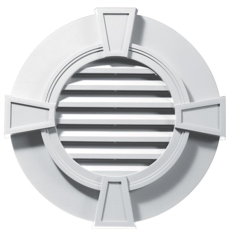 Builders Edge 8-in x 8-in White Round Vinyl Gable Vent