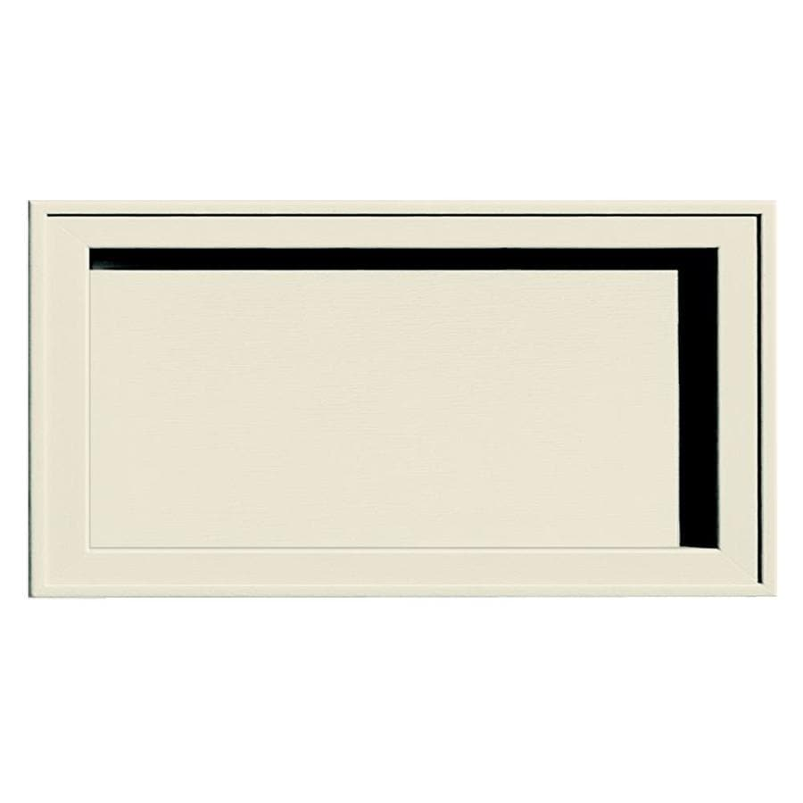 Builders Edge 7.5-in x 14.25-in Linen Vinyl Universal Mounting Block