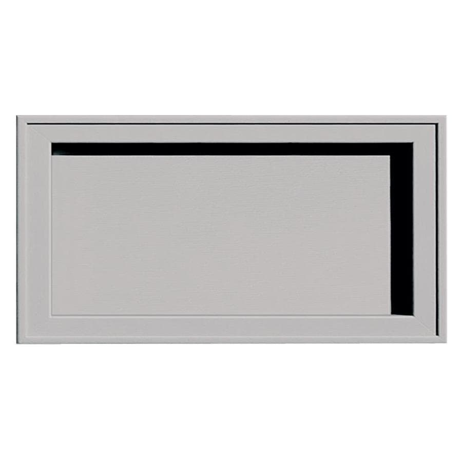 Builders Edge 7.5-in x 14.25-in Gray Vinyl Universal Mounting Block