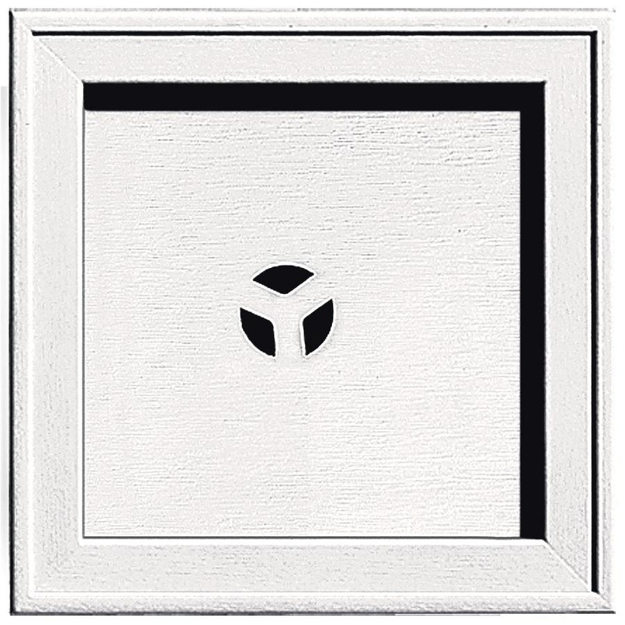 Builders Edge 7.75-in x 7.75-in Bright White Vinyl Universal Mounting Block