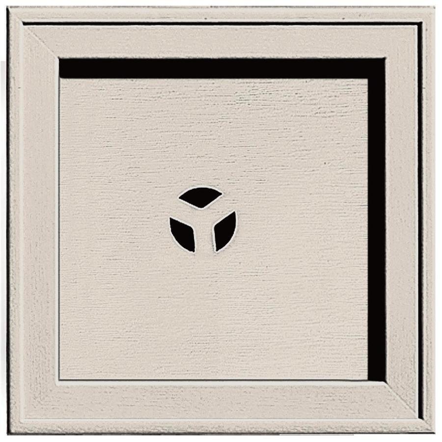 Builders Edge 7.75-in x 7.75-in Almond Vinyl Universal Mounting Block