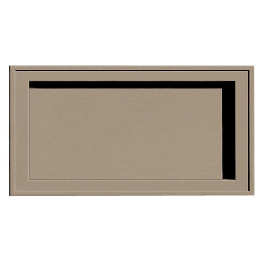Builders Edge 7.5-in x 14.25-in Clay Vinyl Universal Mounting Block