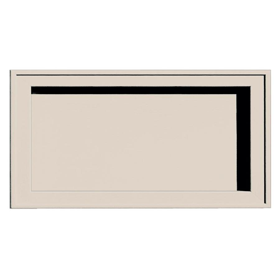 Builders Edge 7.5-in x 14.25-in Almond Vinyl Universal Mounting Block