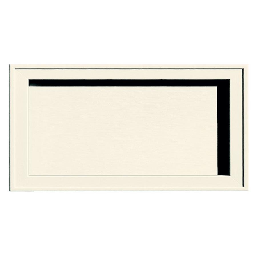 Builders Edge 7.5-in x 14.25-in Parchment Vinyl Universal Mounting Block