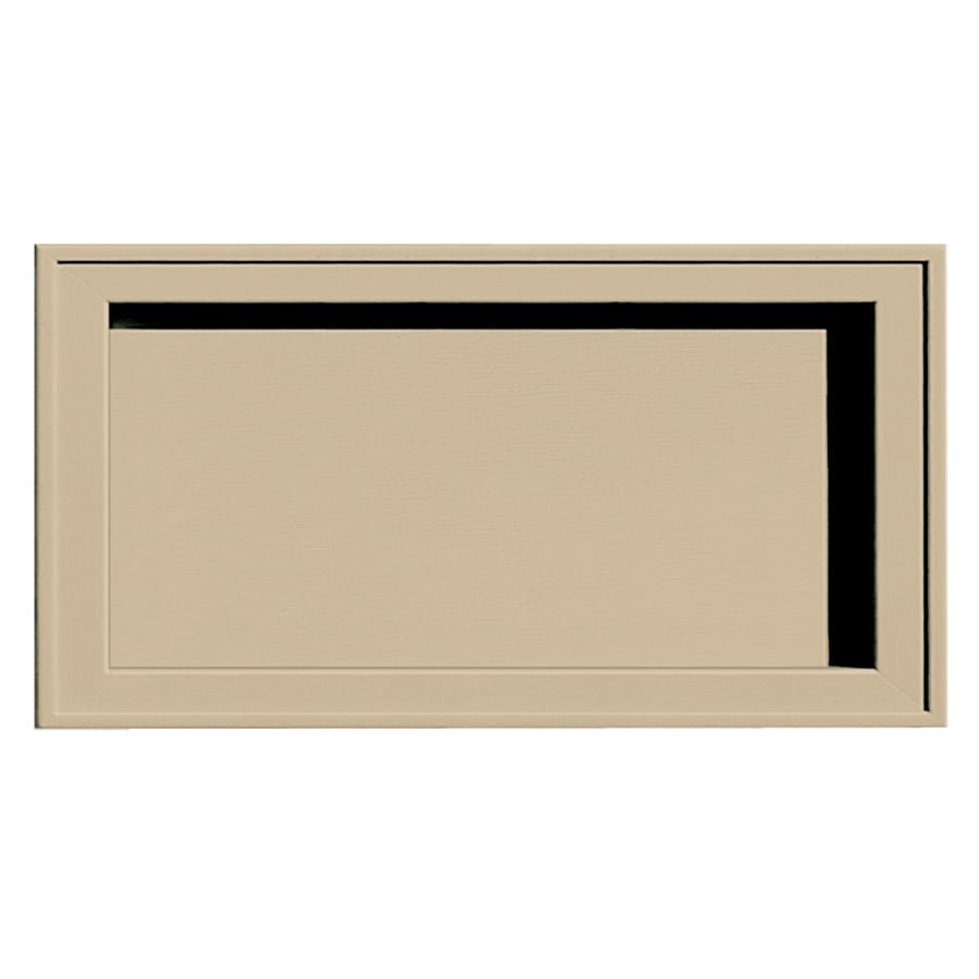 Builders Edge 7.5-in x 14.25-in Light Almond Vinyl Universal Mounting Block